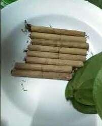 ใบตองอ่อน ใช้ทำมวนบุหรี่ยาสูบ