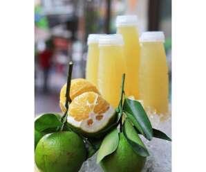 ส้มเช้ง ผลมีเปลือกหนา เนื้อภายในฉ่ำน้ำสีเหลืองอ่อน รสชาติเปรี้ยวอมหวาน มีกลิ่นหอม