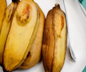 กล้วยนึ่งคลุกมะพร้าว กล้วยนึ่ง