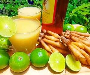 น้ำกระชายมะนาวน้ำผึ้ง เครื่องดื่มสมุนไพรเพื่อสุขภาพ